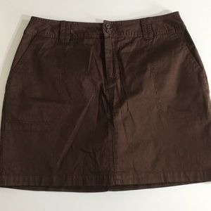 NWT St. John's Bay Stretch Brown Skort Size 12